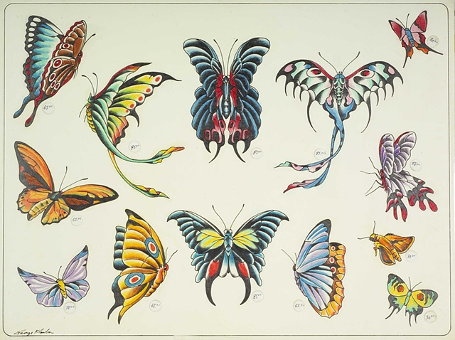 Butterfly Tattoo Flash