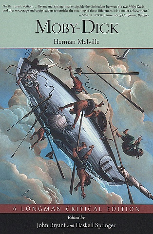 "Cover by Klauba for ""Moby-Dick, a Longman Critical Edition,"" edited by John Bryant and Haskel Springer, Pearson Longman, 2007"