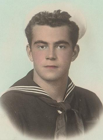 George Klauba in Navy, 1957, Taranto, Italy