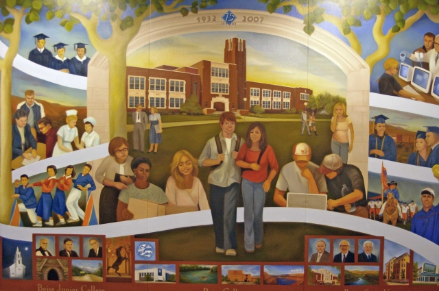 Boise State University 75th Anniversary Mural