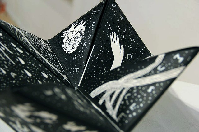 hand screen printed fortune teller
