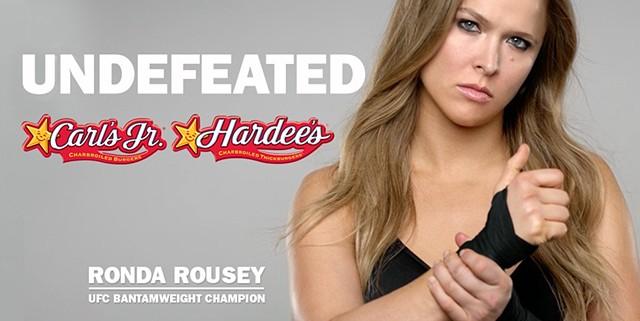 Carl's Jr. Ronda Rousey