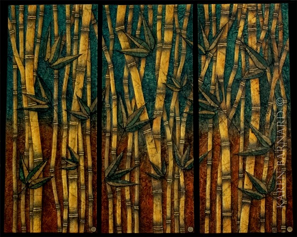 Bamboo Art  recycled distressed upcycled patagonia reused resin gallery barnard stubert