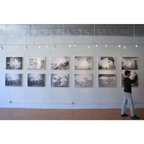 Benjamin Lee Sperry's photographs in a gallery