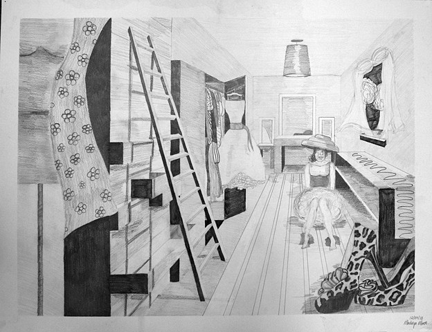 "DRAWING I: ""Fantasy Space"" Perspective Assignment"
