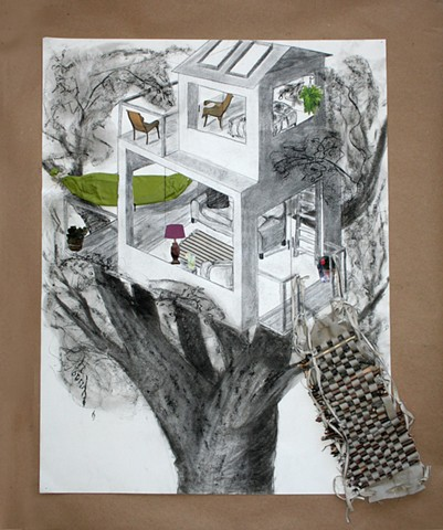 DRAWING II: Interior/Exterior with Mixed Media