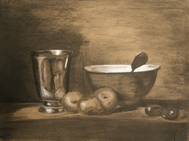 DRAWING I: Still Life on Toned Paper