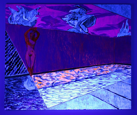 La Piscina (black light view)