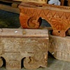 Carvings and Teak Blocks
