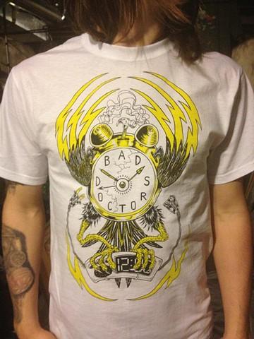 Bad Doctors, T-shirt, punk rock, leta gray, devolution, clocks