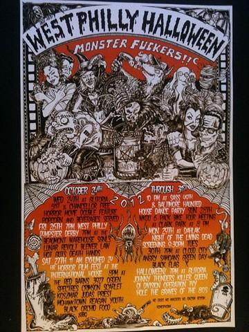 west philly halloween, mohawktown, leta gray, flier, monster mash, punk horror