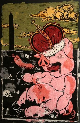 war pig king death democracy pawn filth