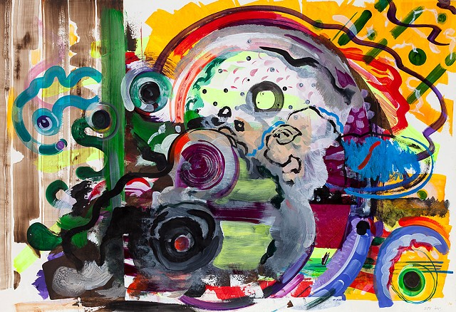 ride, 2015 acrylic on paper 41x29.5 inches