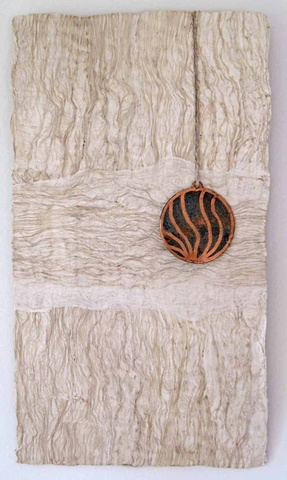 Margaret Merritt, Amate, Bark Paper, Copper Medallin