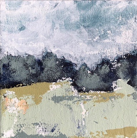 little landscape, acrylic on canvas