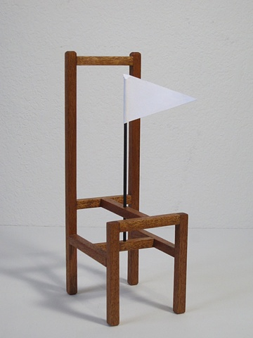 chair sculpture, wood