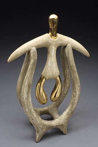 Abstract ritualistic figurative sculpture