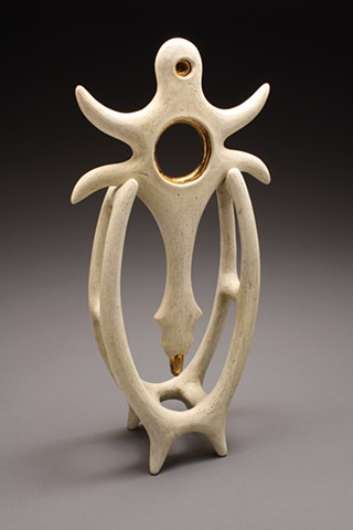 """Shaman's Portal"" Abstract Ritualistic Ceramic Sculpture"