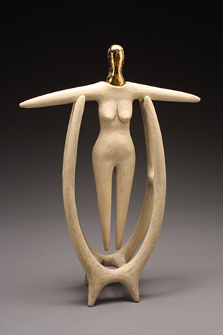 Ritualistic Abstract Figurative Sculpture by Jeff Pender