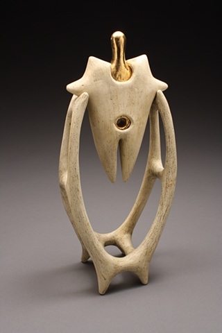 Abstract, ceremonial, ceramic sculpture