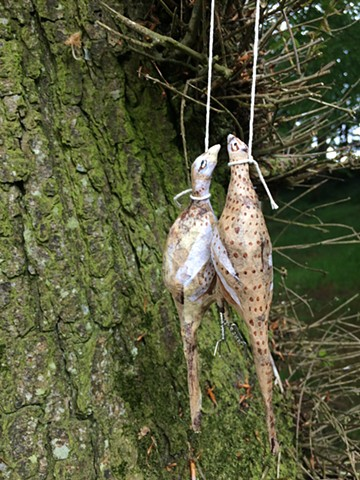 Art drop, pheasants, pheasant brace, St. Brigid's Shrine, Ladywell Shrine