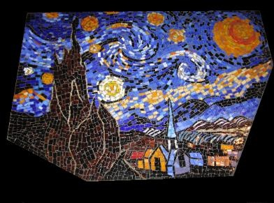 Starry Night Table Mosaic