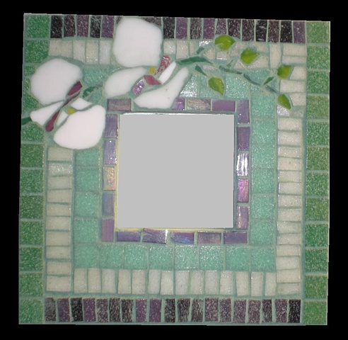 Orchid Mosaic Mirror