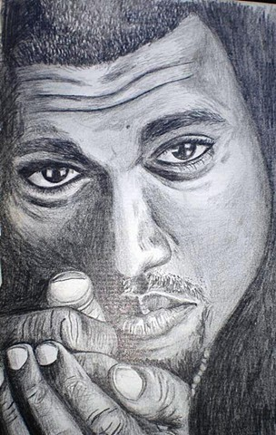 Black Man Pencil Drawing