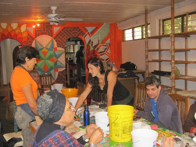 Mosaic Class in Tepoztlan Mexico