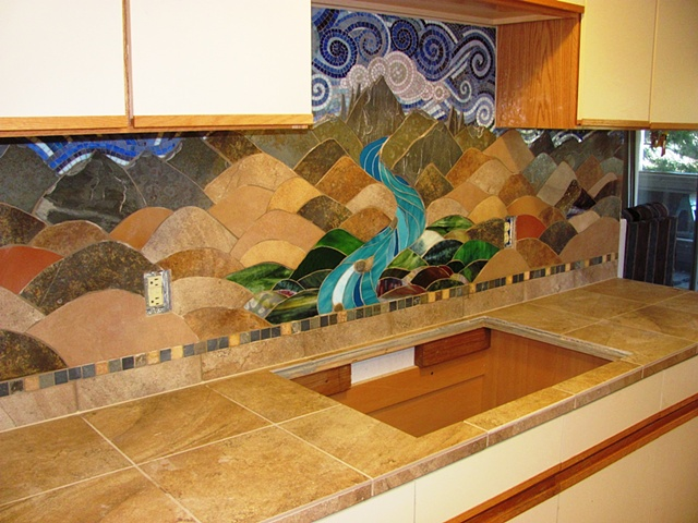 Mountain Backsplash
