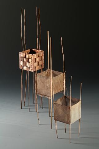 small copper sculpture