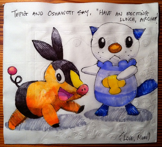 Tepig and Oshawott (Pokemon)