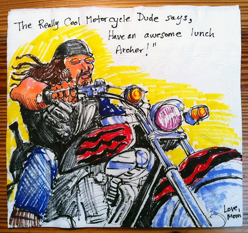 Cool Motorcycle Dude (Once Upon a...)