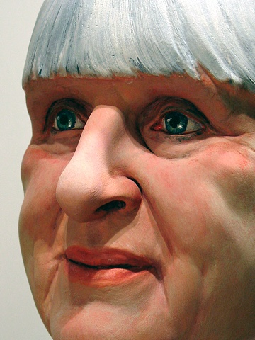sculpted painted portrait of Marion Griffiths