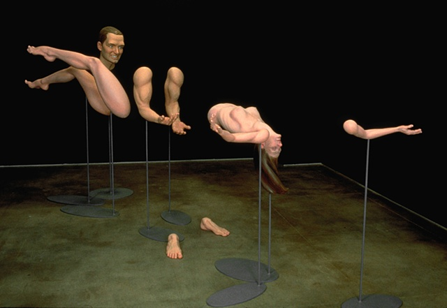 Disparate body parts compose into a tableau from one viewpoint