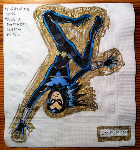 Nightwing Upside Down