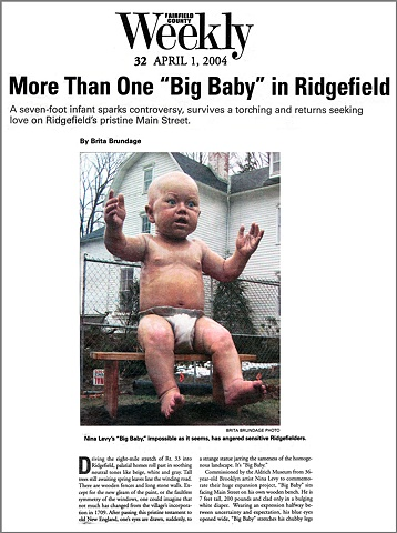 Fairfield County Weekly Article, Big Baby at Aldrich,  By Brita Brundage