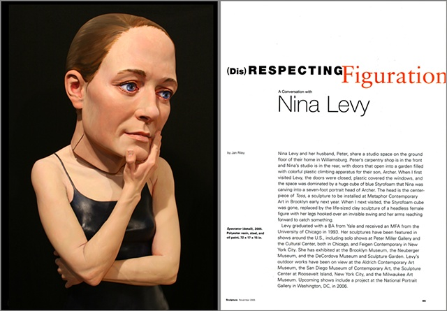 Sculpture Magazine Interview   By Jan Riley,  first spread