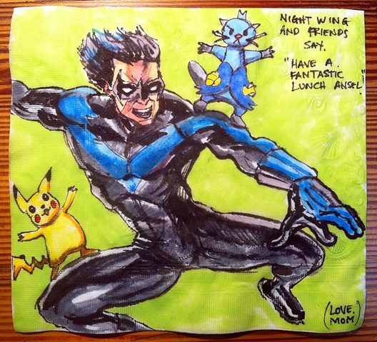 Nightwing and Pokemon