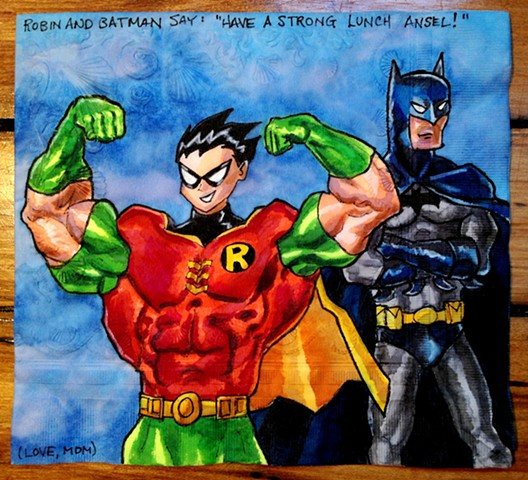 Teen Titans Robin's Muscles Don't Impress Batman
