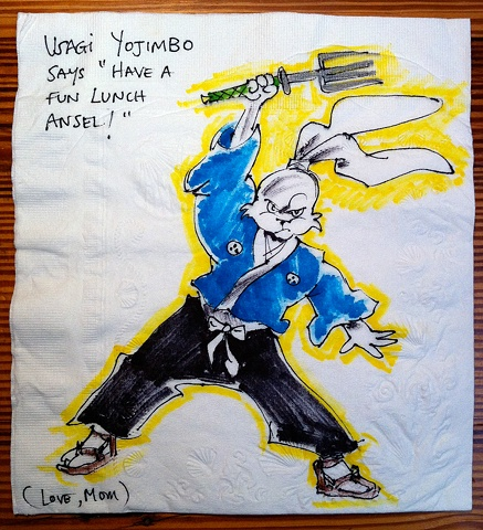 Usagi Yojimbo with Fork