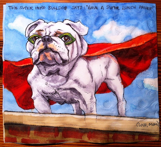 Super Hero Bulldog
