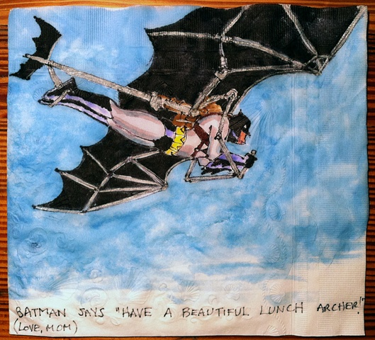 Batman in Glider
