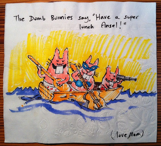 Dumb Bunnies in Boat