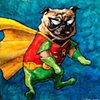 Teen Titans Robin Pug