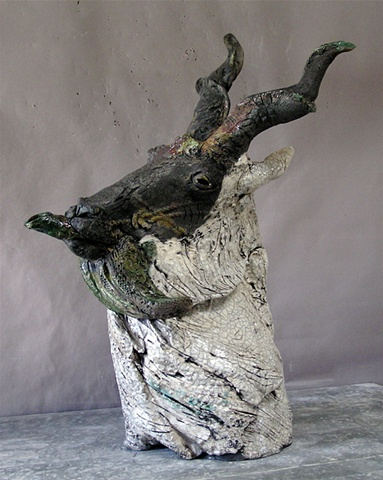 Wild Goat Teapot (Homage to Paul Soldner)