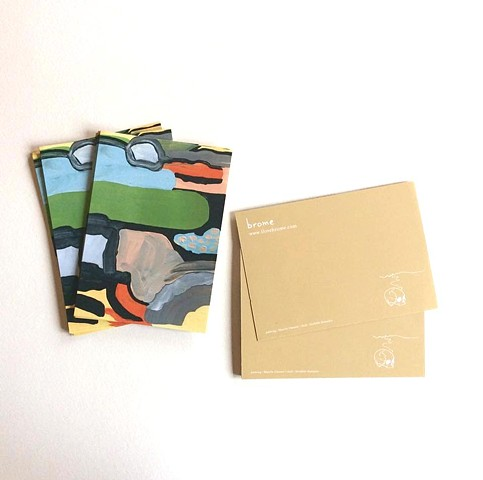 Postcards for the band BROME