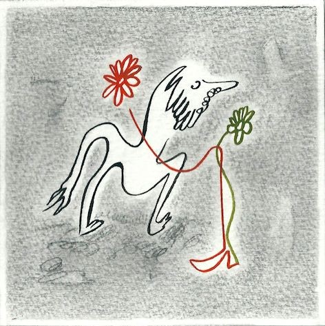Sans titre Acrylique et crayon sur papier 10 x 10 cm