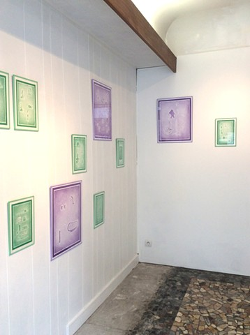 Les auras, vue d'exposition Galerie Olivier Meyer, 2016
