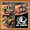 antique brass side shortie liner (SOLD)